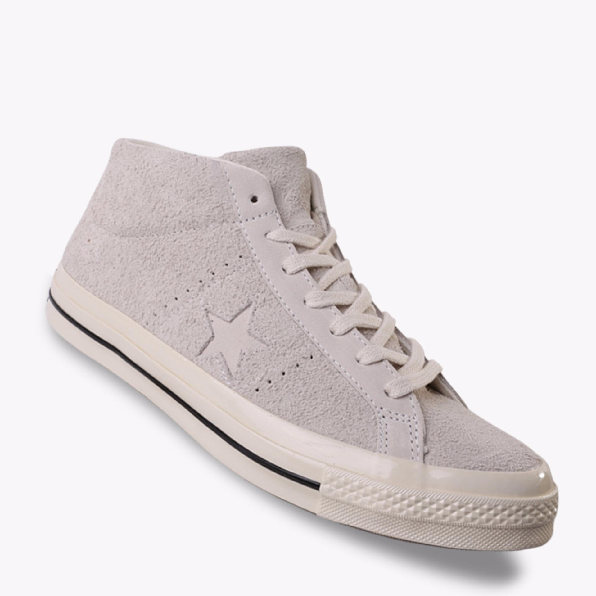Converse One Star Mid Suede Men's Sneakers Shoes - Putih .