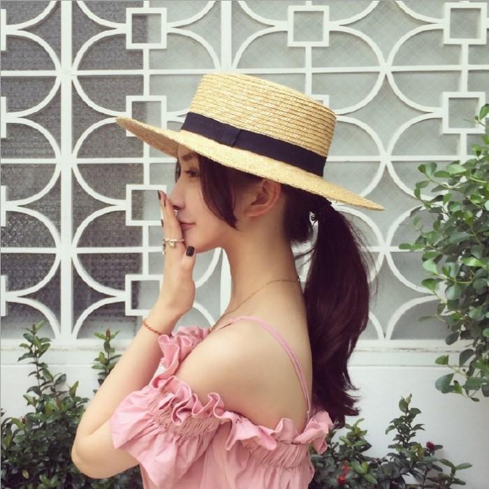 Matahari Korea Fashion Style Musim Panas Topi Topi Topi Pantai Topi ... e6c051477d