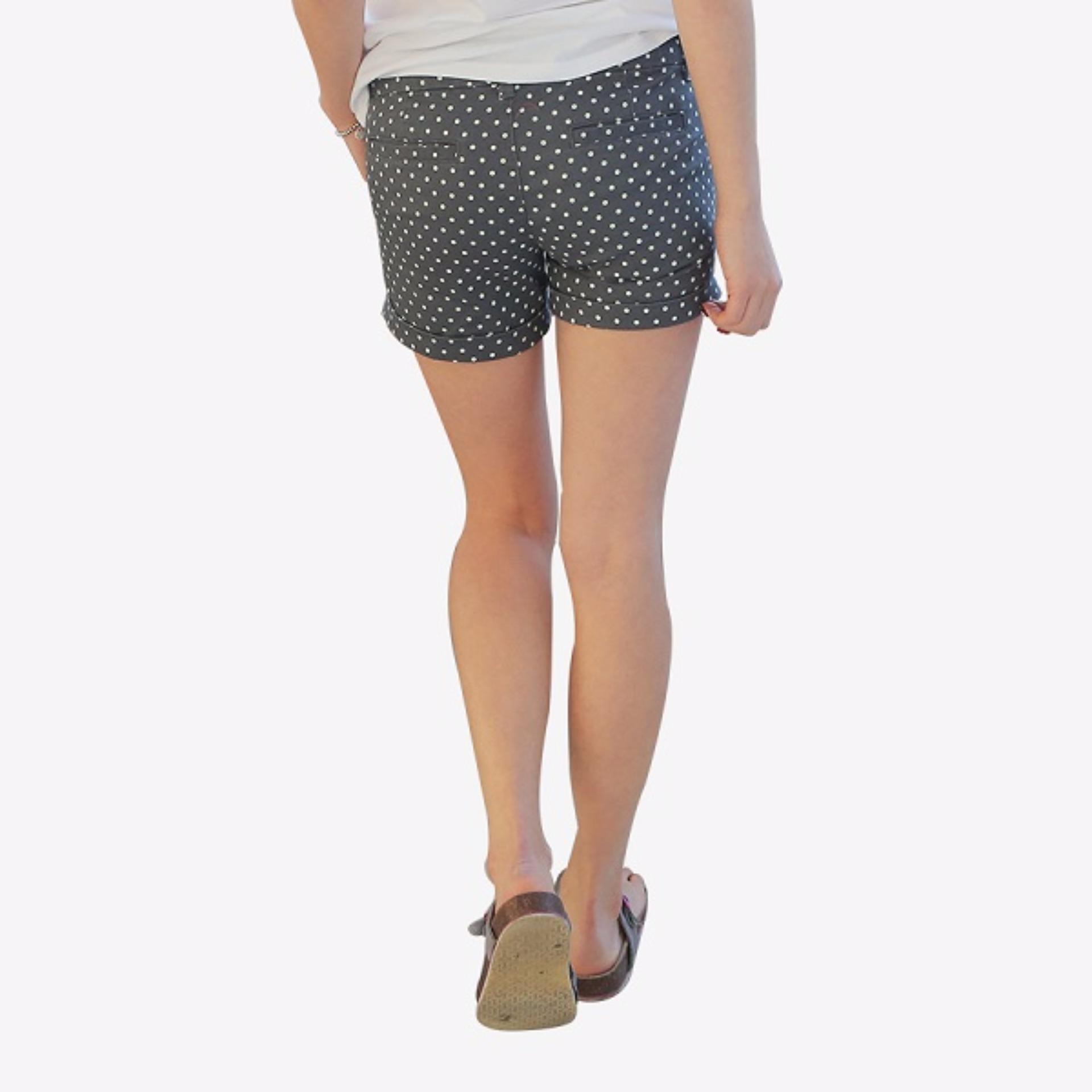 Coup Women Classic Short Celana Pendek Wanita Black Daftar Harga S4 Men Bermuda Pria Korean Brand Pants White Dot