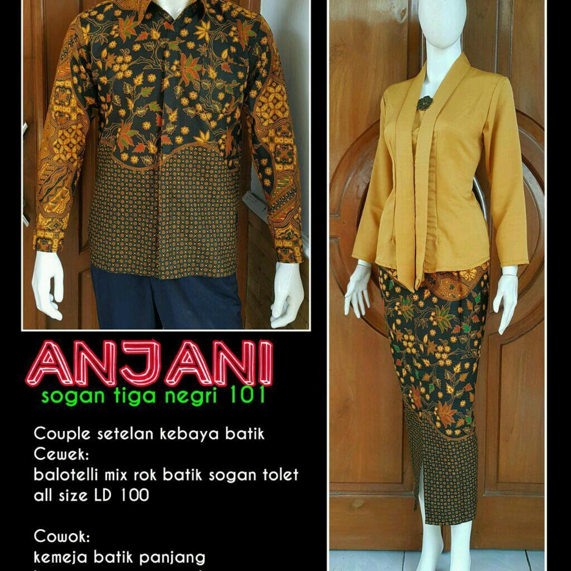 Kembar Kebaya Batwing Sharon Plus Rok Lilit Batik Warna Putih ... - Baju Batik Wanita Kebaya Rok Lilit. Source · Couple setelan kebaya batik anjani sogan .