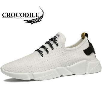 Gambar Crocodile Korea Fashion Style pria jala sepatu kain sepatu bernapas sepatu  pria (Model laki bb043e547a