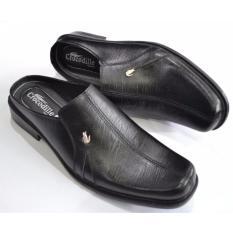 Crocodile Sepatu Sandal Selop Pria Sepatu Pria Sandal Pria - Kulit Sapi Asli Pria - A6 Hitam