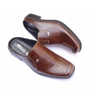 Gambar Crocodile Sepatu Sandal Selop Sandal Sepatu Pria Sandal Pria Kulit  Sapi Asli A8 Coklat a00ceec40e