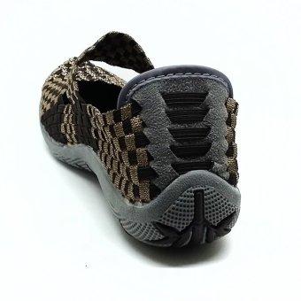 ... Cyntia Sepatu Rajut A6300Y - Coffe - 3 ...