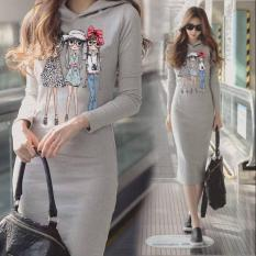 damai fashion - dress agnes hoodie - konveksi tanah abang