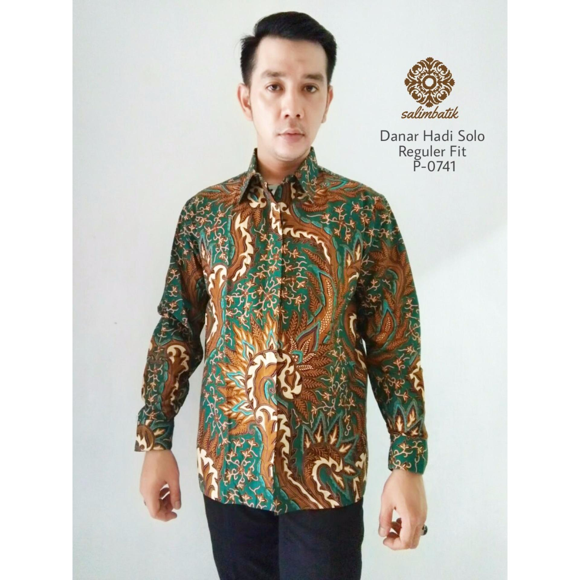 Warna Kancing matching dengan warna baju Danar Hadi Kemeja Batik Reguler Fit 0741 Hijau