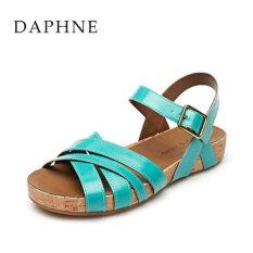 Daphne datar sepatu sandal kata gesper (Danau Biru 156)
