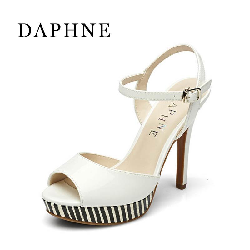 Daphne Tahan Air Taiwan Gesper Horizontal Mulut Ikan Sandal Summer Sepatu Wanita (Putih 101)