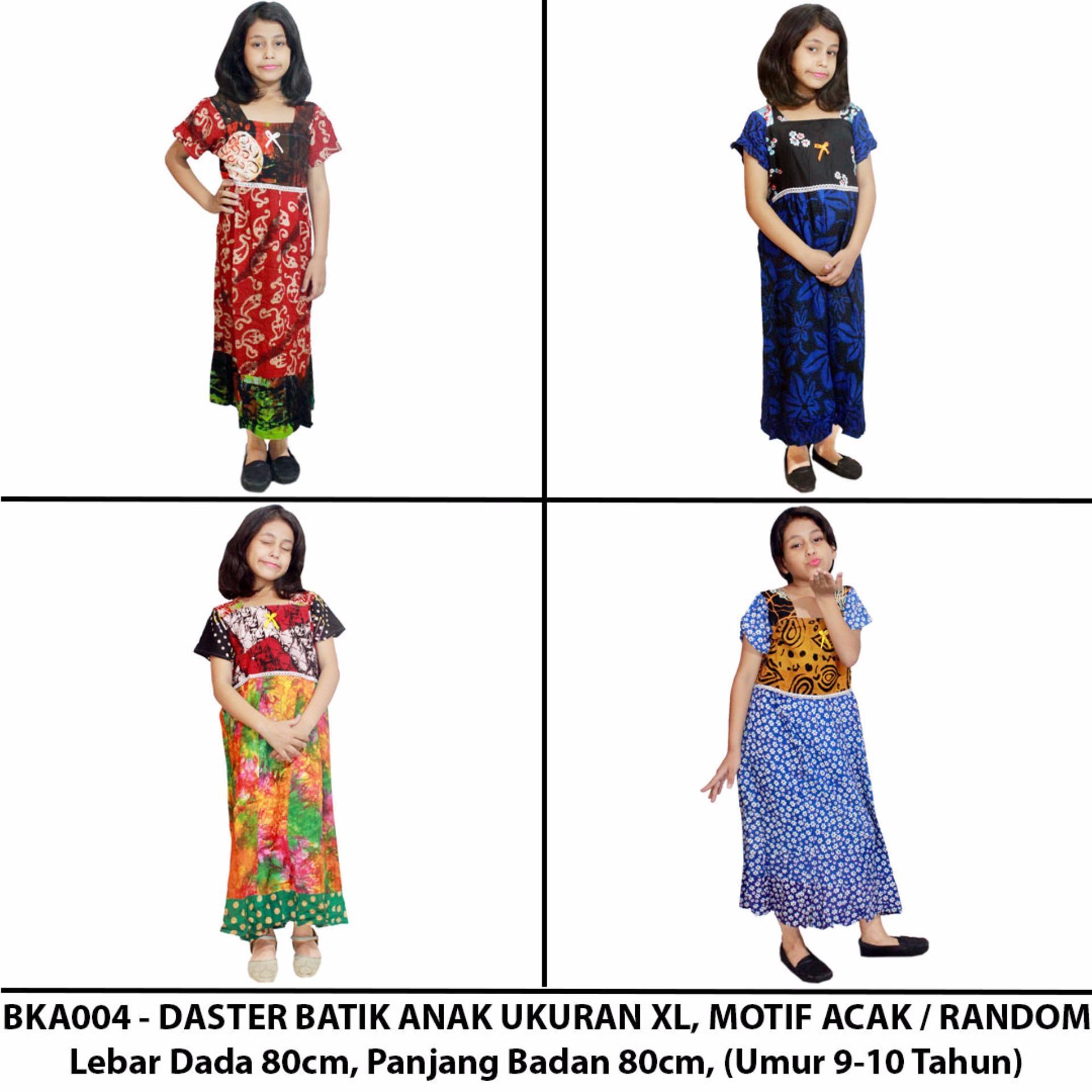 Daster Anak Batik, Baju Tidur Anak, Piyama Anak, Ukuran XL Usia 9-10 Tahun (BKA004)