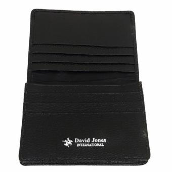 David Jones International - Dompet Kartu / Card Holder Kulit Pria -Kulit Asli - 1143 - Hitam - 2