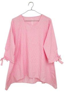 d econic blouse wanita pakaian salur pinky