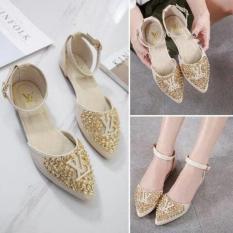 Sandal Teplek Wanita Flat Sandal Mi09 Silver Daftar Harga Terbaru Source Jual Flat .