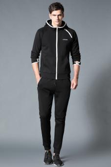 JUAL Di luar ruangan di musim semi dan musim gugur baru pria olahraga jas (Hitam jas-tidak menentukan default rambut bundel kaki celana) TERBAIK
