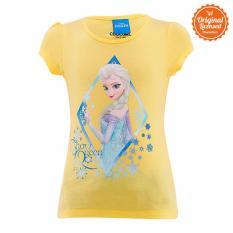 Disney Frozen Princess Elsa Snow Queen T-Shirt Yellow