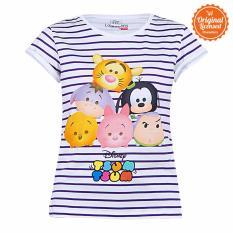 Disney Tsum Tsum  Strip Shirt Putih