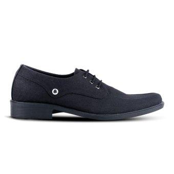 Distro Bandung VD 377 Sepatu Formal Pria Untuk Kerja Kantor - Hitam - 2