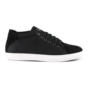 Distro VDB 458 Sepatu Sneaker kets dan Kasual Pria utk santai,jalan, kuliah, kerja, sekolah - Hitam - 3