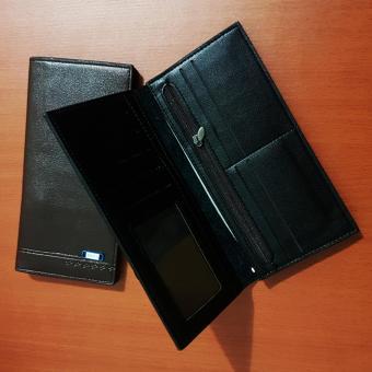 Dompet Pria Bovis Long Fashion Wallet 8 Inchi DF-95 PU Leather -Black - 3