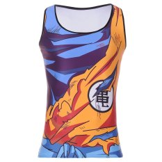 Dragonball Tank Hot Men Fitness Clothing Apparel Deadlift Shirt MenTank Top Powerlifting Motivational Vest (Blue