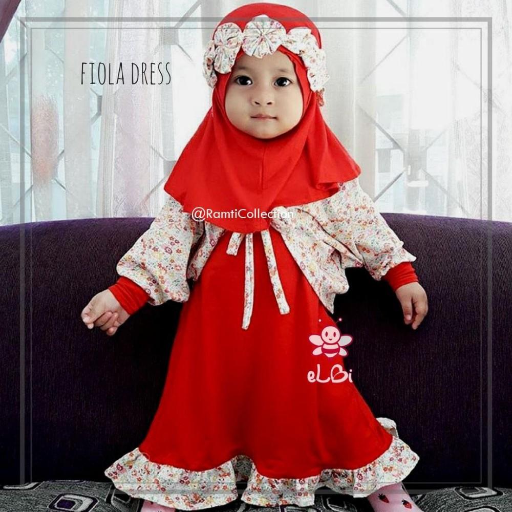 dress anak muslim I setelan gamis anak I busana muslim keren I baju muslim setelan I fiola dress