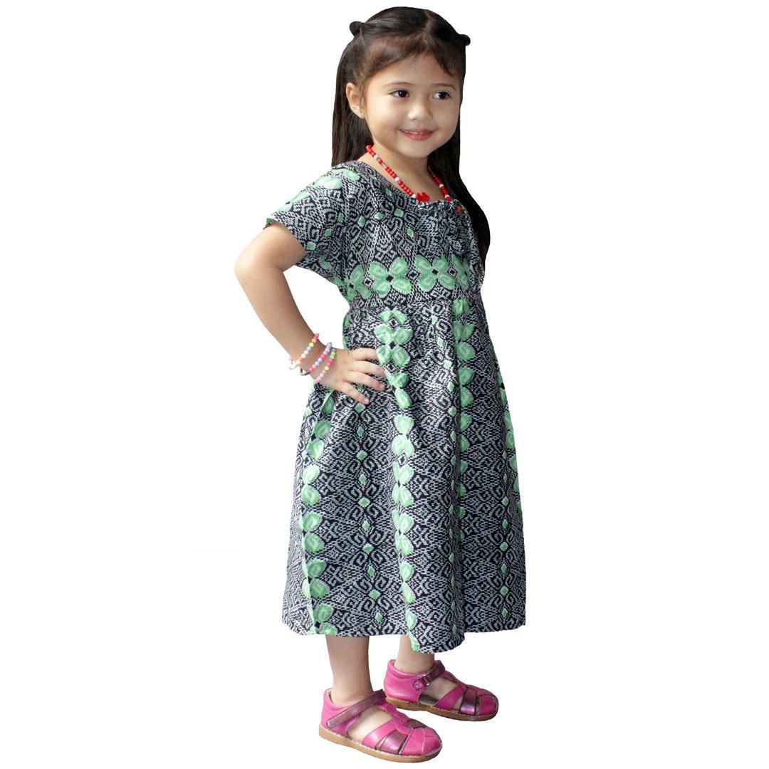 Dress Sogan Batik Anak, Baju Tidur Anak, Piyama Anak, Ukuran XL Usia 5-6 Tahun (DKA001-03)