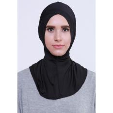 EL Ciput Hijab Antem Silang - Anti Tembem Ciput Kerudung Ninja Antem Ciput Ninja Antem Silang Inner Kerudung Kerpus Modern Ciput Ninja Antem Kancing Inner Hijab Aksesoris Perlengkapan Berhijab - Black