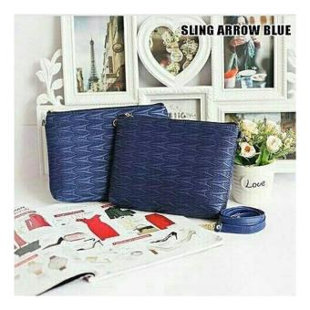EL PIAZA Sling Arrow Navy Women Clutch Bag - Sling Bag Tas GenggamTas Slempang Tas Pesta