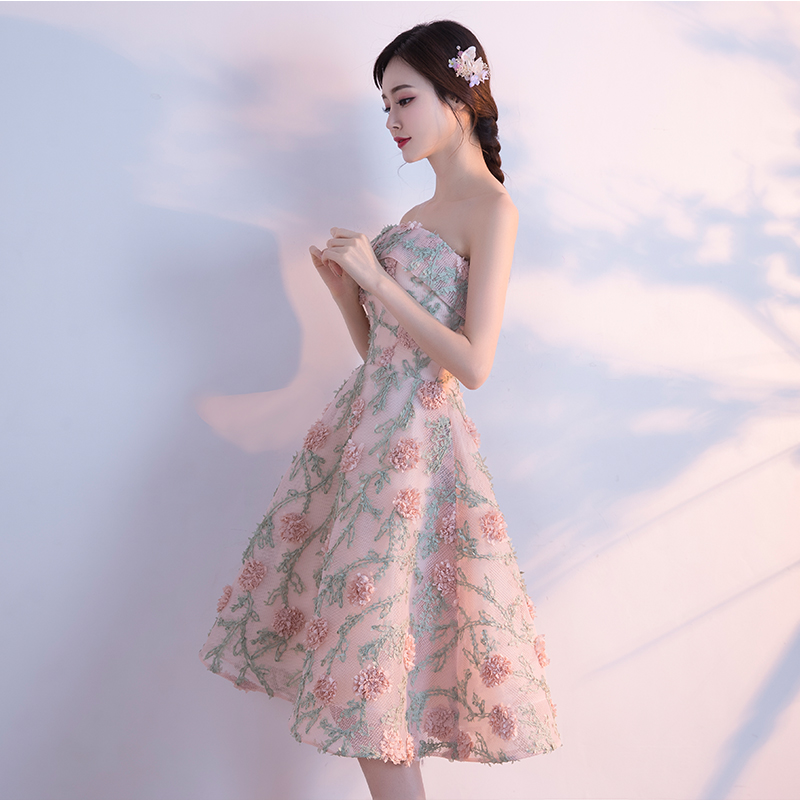 Elegan Putri Slim Perempuan Terlihat Langsing Gaun Kecil Gaun Malam (Gambar Warna BH)