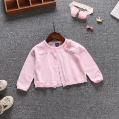 Elf Katun Baru Bayi Selendang Bayi Kemeja Udara Merajut Kemeja (Merah muda) (Merah