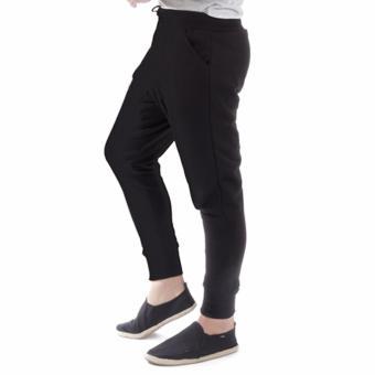 Elfs Shop - Celana Panjang Bahan Sweatshirt Jogging Pants 95D1-Hitam -