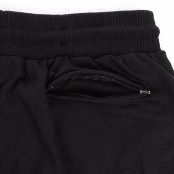 Elfs Shop - Celana Panjang Bahan Sweatshirt Jogging Pants 95D1-Hitam - 4