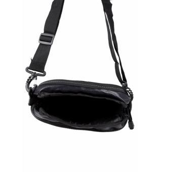 Elfs Shop - Tas Selempang Pria Men's Sling Crossbody Shoulder Bag Canvas Leather Kulit-Biru Dongker - 4