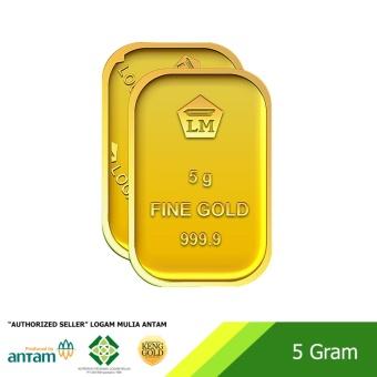 "Emas 5 Gram - Logam Mulia 999.9 Sertifikat Antam - ""Authorized Seller"""