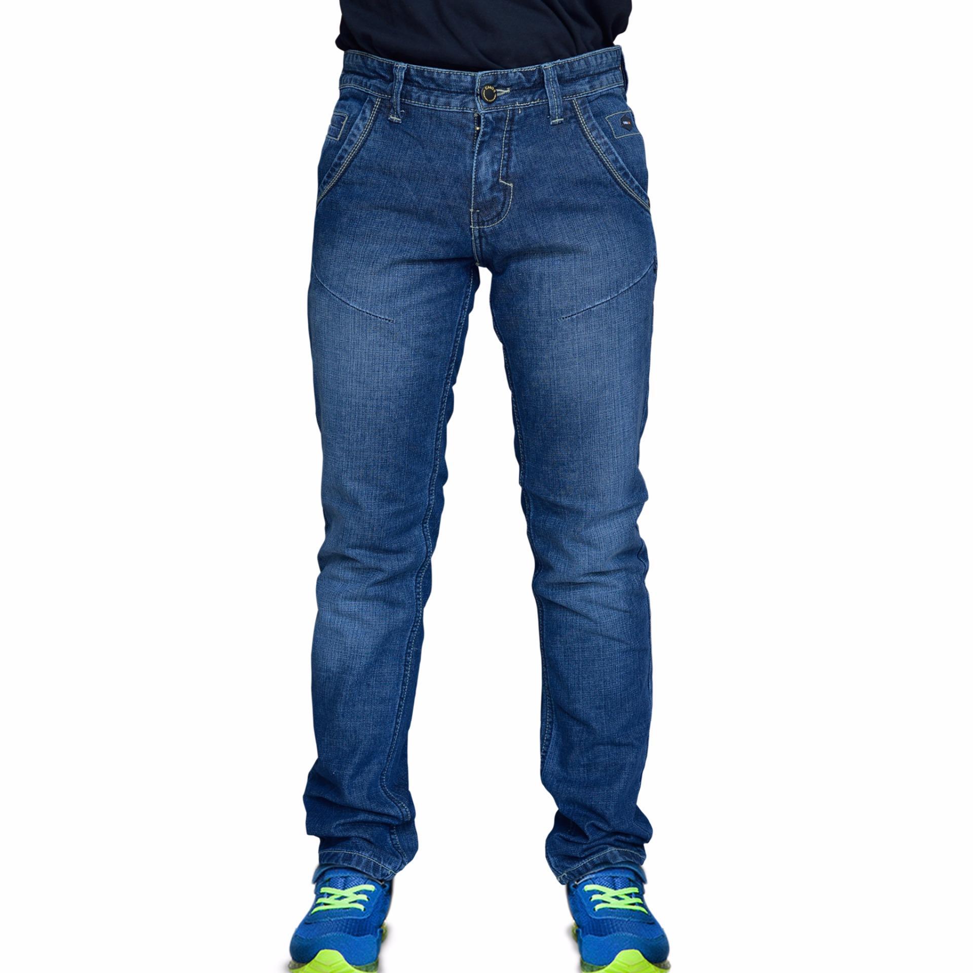 Emba Jeans Celana Panjang Pria Bs 08 Jordan Regular Charcoal Bs08b1 Denim Warna Jet Black Hitam 38 Rodensi One 613 10138 20