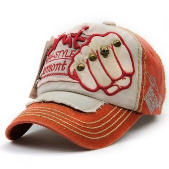 Price Checker Eropa dan Amerika kapas gaya paku keling model ms. topi  baseball (Oranye 0892cf7dd7