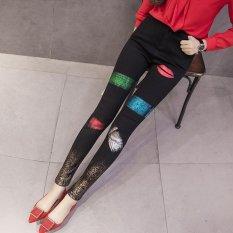 Eropa dan Amerika Serikat jeans Bronzing Celana Kaki Celana-Intl