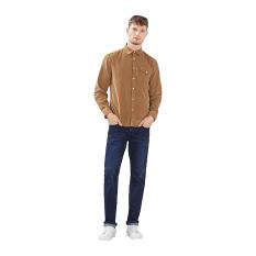 Esprit Needlecord Shirt, 100% Cotton - Camel