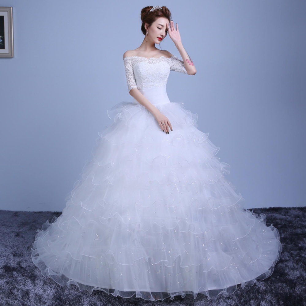 Flash Sale Ever Dresses Princess Oragnza Ruffles Wedding Dress Off ...