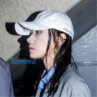 EXO melingkar warna topi ayat yang sama topi (Putih)