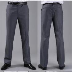 FARIZ COLLECTION Celana Kerja Pria Slim Fit semi wool Abu/ celana bahan formal slim fit pria warna abu