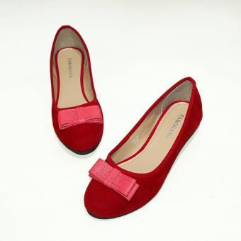... Fasahaya Sepatu Wanita Flat Shoes Balet Cantik Terbaru Murah FSB001  Merah - 3 ... a5ecde5315