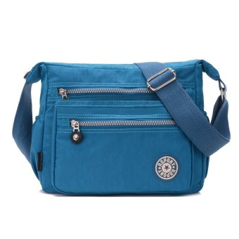 Fashion Classic Women's Shoulder Bags Waterproof Nylon Bag Cross Body Bag - Blue - intl