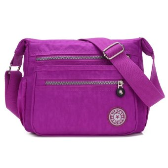Fashion Classic Women's Shoulder Bags Waterproof Nylon Bag Cross Body Bag - Light Purple - intl