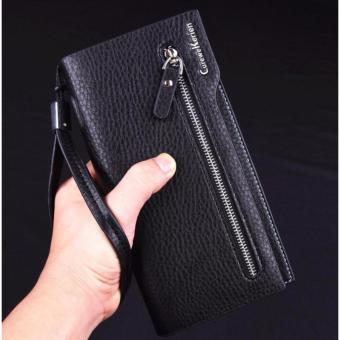 Fashion Leather Wallet Curewe Kerien X-869 Pria Dompet Kulit Mens Business Long Wallet Cowo - HITAM - 2