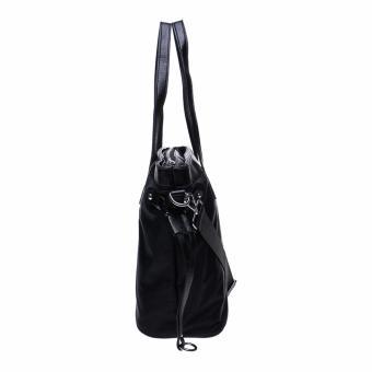 Fashionity Women Nylon Waterproof Tote Bag DM 2062 Black - Tas Wanita - 5