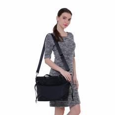Fashionity Women Nylon Waterproof Tote Bag DM 2062 Black - Tas Wanita