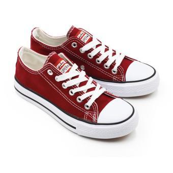 Faster Sepatu Sneakers Casual Kanvas Wanita 1603-03 - Maroon 36-40
