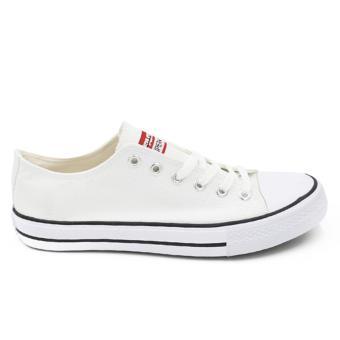 Faster Sepatu Sneakers Kanvas Wanita 1603-03 - White - 4