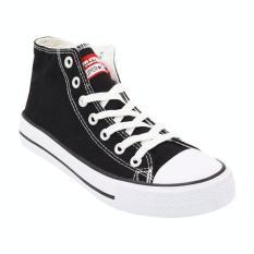 Faster Sepatu Sneakers Kanvas Wanita 1603-04 - Hitam/Putih