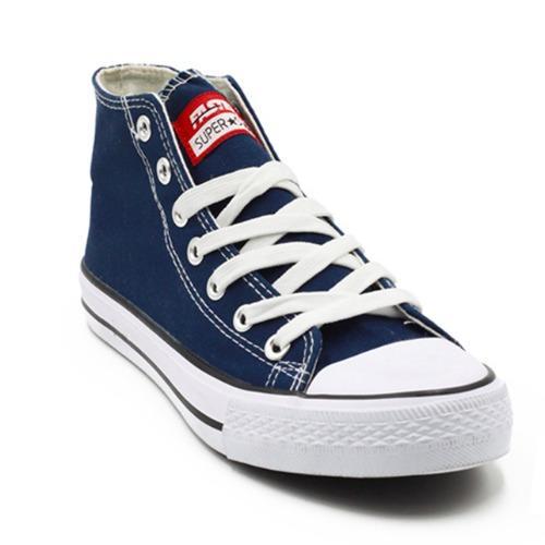 Faster Sepatu Sneakers Kanvas Wanita 1603-04 - Navy/Putih .